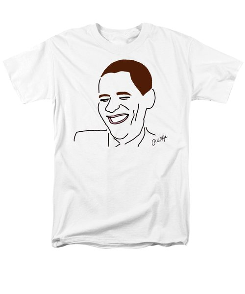 Line Art Man Men's T-Shirt  (Regular Fit) by Priscilla Wolfe