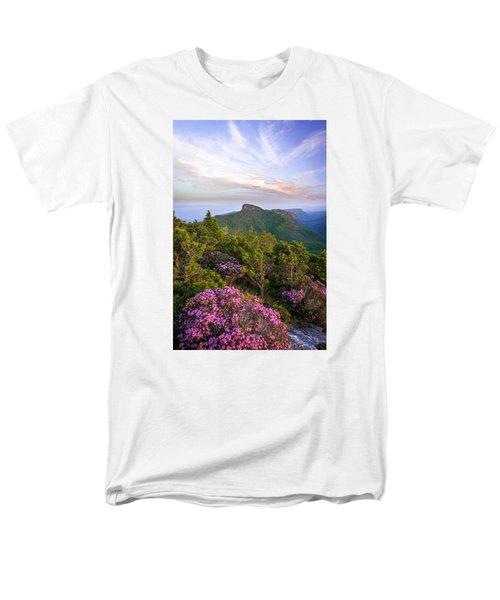 Linville Gorge Spring Bloom Men's T-Shirt  (Regular Fit) by Serge Skiba