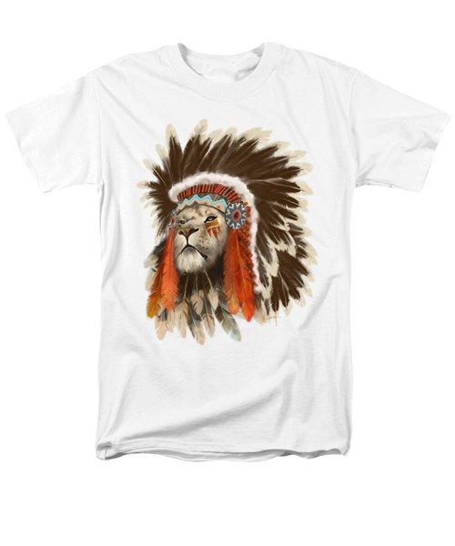 Lion Chief Men's T-Shirt  (Regular Fit) by Sassan Filsoof