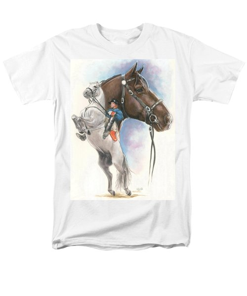 Men's T-Shirt  (Regular Fit) featuring the mixed media Lippizaner by Barbara Keith