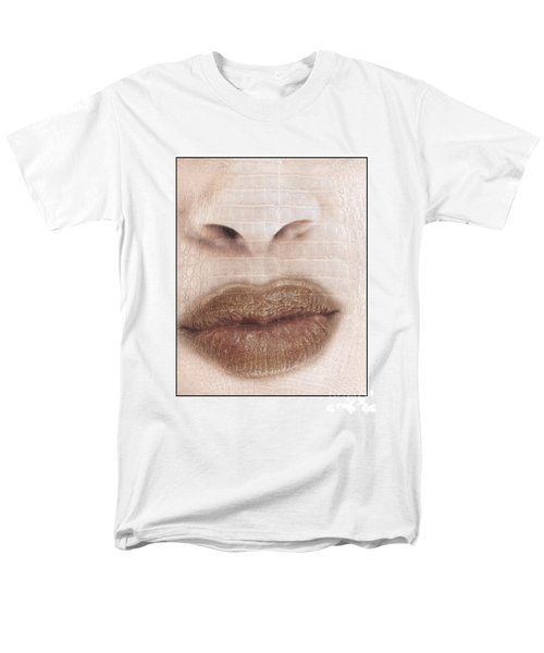 Lips And Nose. Female Men's T-Shirt  (Regular Fit) by Michael Edwards