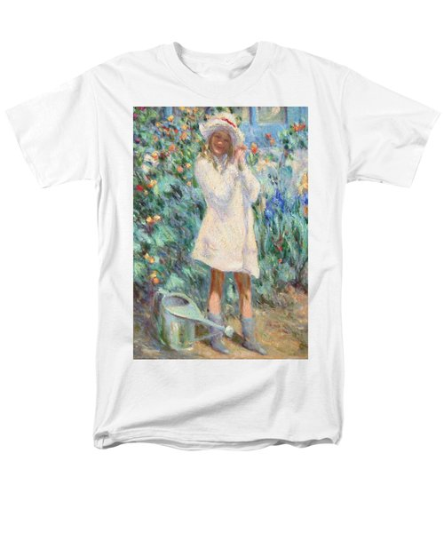 Little Girl With Roses / Detail Men's T-Shirt  (Regular Fit) by Pierre Van Dijk