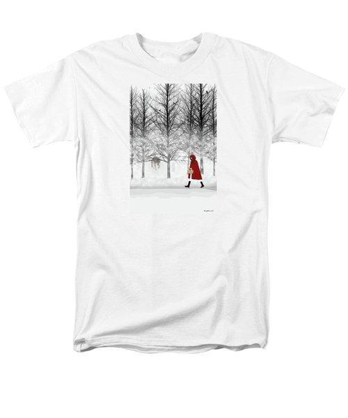 Men's T-Shirt  (Regular Fit) featuring the digital art Little Red by Nancy Levan