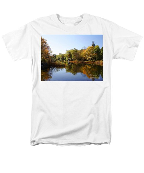 Little Shawme Pond In Sandwich Massachusetts Men's T-Shirt  (Regular Fit) by Rod Jellison