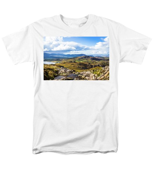 Men's T-Shirt  (Regular Fit) featuring the photograph Little Stream Running Down The Macgillycuddy's Reeks by Semmick Photo