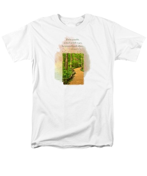 Live In Peace Men's T-Shirt  (Regular Fit) by Larry Bishop