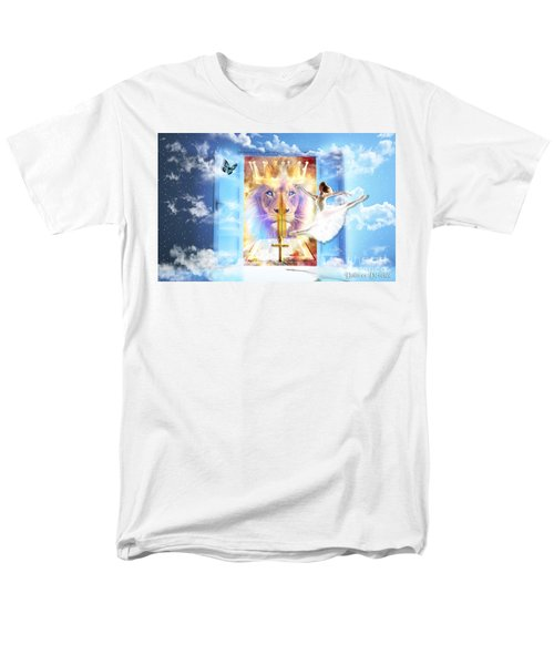 Men's T-Shirt  (Regular Fit) featuring the digital art Living Word Of God by Dolores Develde
