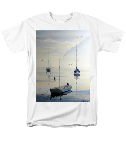 Locarno Boats In February Men's T-Shirt  (Regular Fit) by David Gilmore