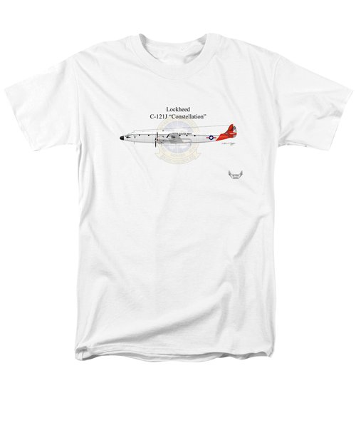 Men's T-Shirt  (Regular Fit) featuring the digital art Lockheed C-121j Constellation by Arthur Eggers