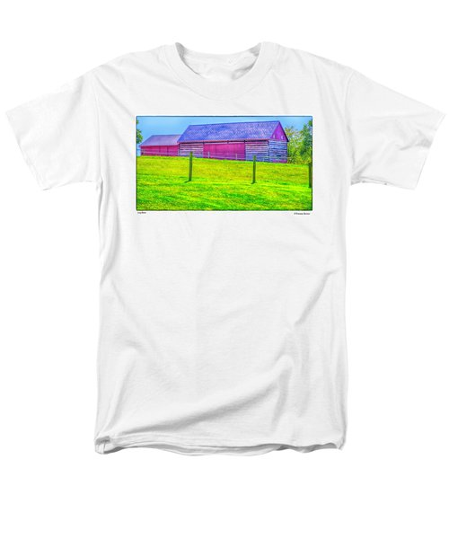 Men's T-Shirt  (Regular Fit) featuring the photograph Log Barn by R Thomas Berner