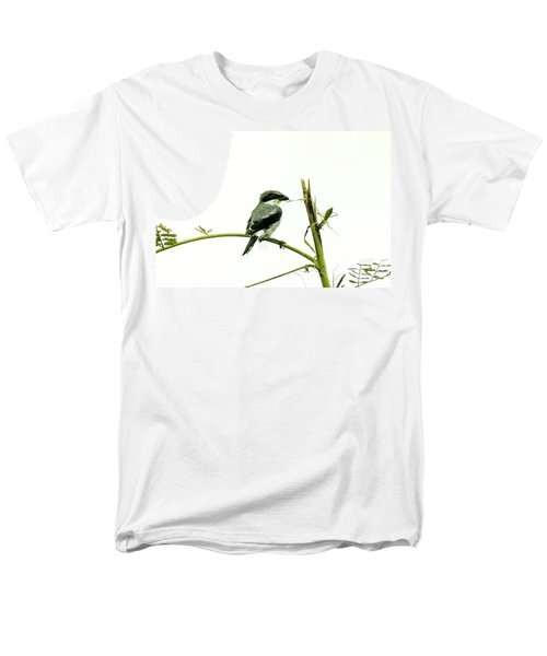 Men's T-Shirt  (Regular Fit) featuring the photograph Loggerhead Shrike And Mantis by Robert Frederick