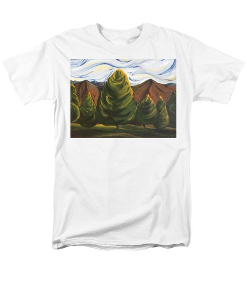 Men's T-Shirt  (Regular Fit) featuring the painting Lollipop Trees by Pat Purdy