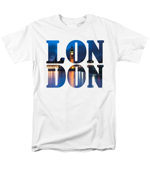 London Letters Men's T-Shirt  (Regular Fit) by Matt Malloy