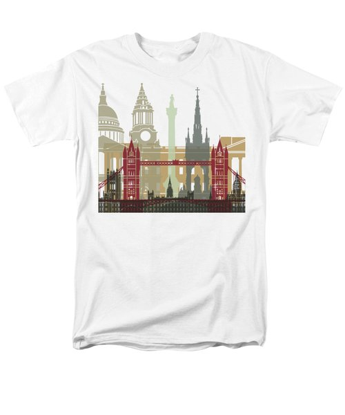 London Skyline Poster Men's T-Shirt  (Regular Fit) by Pablo Romero