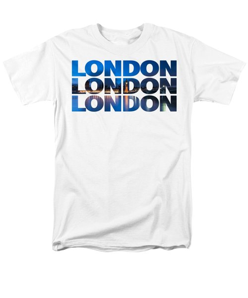 London Text Men's T-Shirt  (Regular Fit) by Matt Malloy