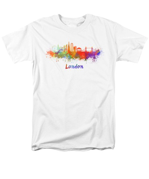 London V2 Skyline In Watercolor  Men's T-Shirt  (Regular Fit) by Pablo Romero
