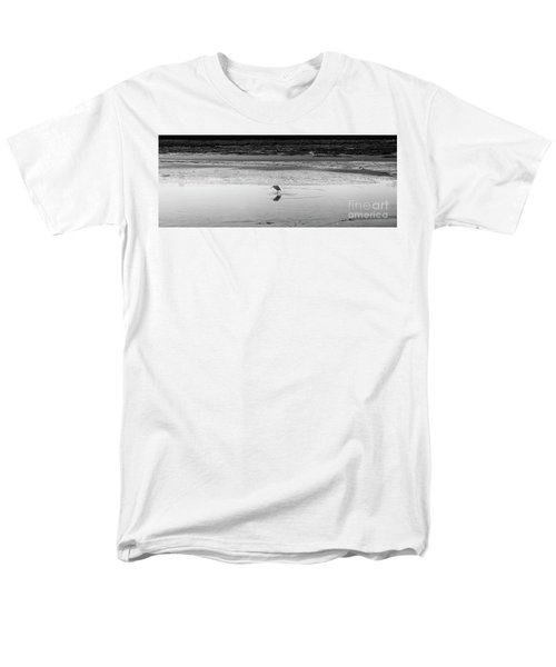 Men's T-Shirt  (Regular Fit) featuring the photograph Lonely Heron by Nicholas Burningham
