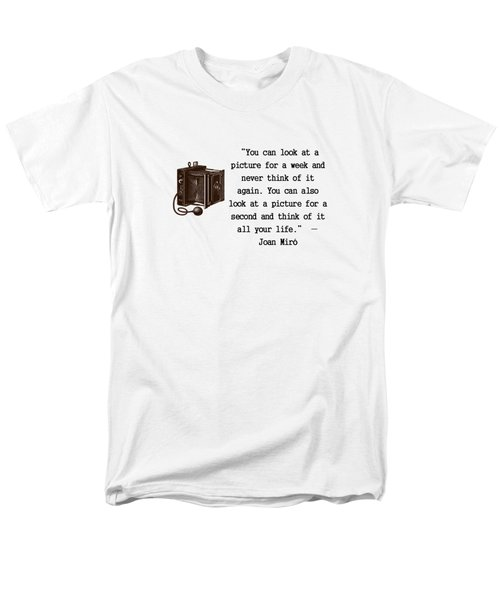 Looking At A Picture Men's T-Shirt  (Regular Fit) by Pat Cook