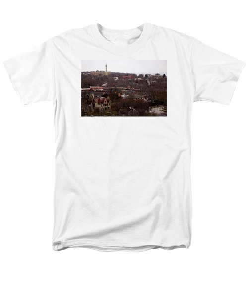 Looking North From  Lafayette And Summit. Men's T-Shirt  (Regular Fit) by David Blank