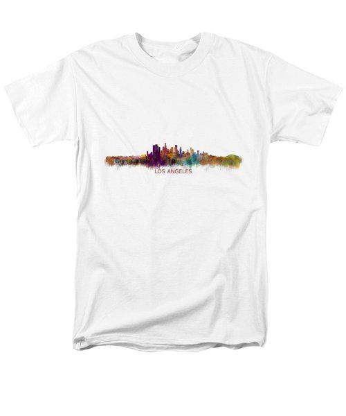 Los Angeles City Skyline Hq V2 Men's T-Shirt  (Regular Fit) by HQ Photo