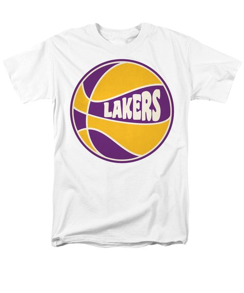 Men's T-Shirt  (Regular Fit) featuring the photograph Los Angeles Lakers Retro Shirt by Joe Hamilton