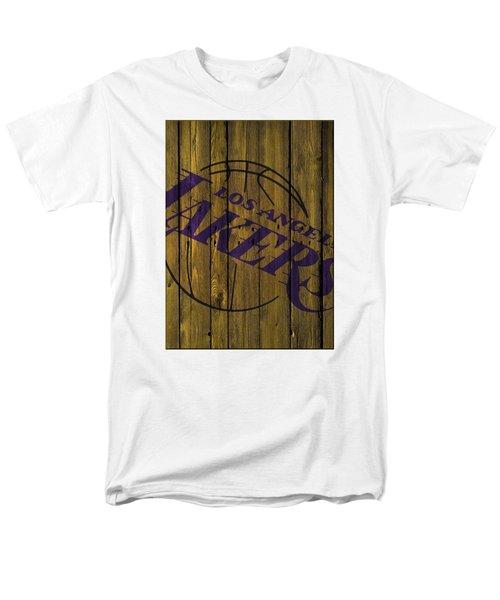 Los Angeles Lakers Wood Fence Men's T-Shirt  (Regular Fit) by Joe Hamilton