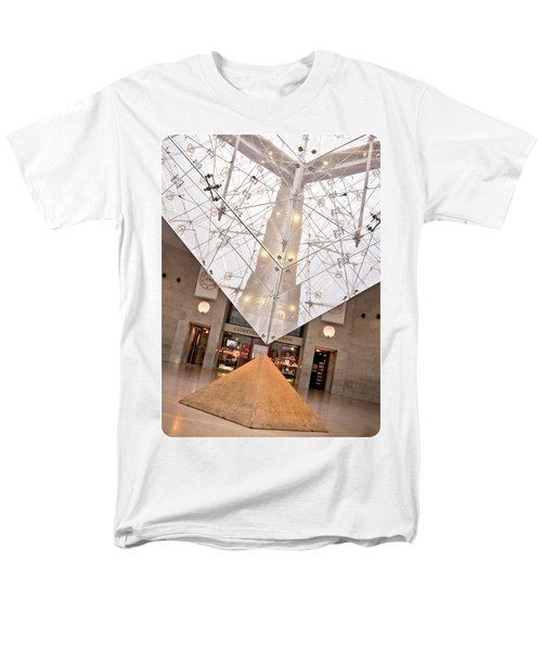 Men's T-Shirt  (Regular Fit) featuring the photograph Louvre Pyramid by Silvia Bruno