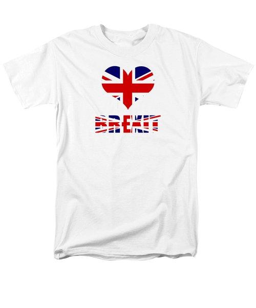 Love Brexit Men's T-Shirt  (Regular Fit) by Roger Lighterness