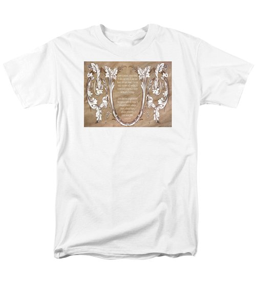 Men's T-Shirt  (Regular Fit) featuring the digital art Love Is Patient by Angelina Vick