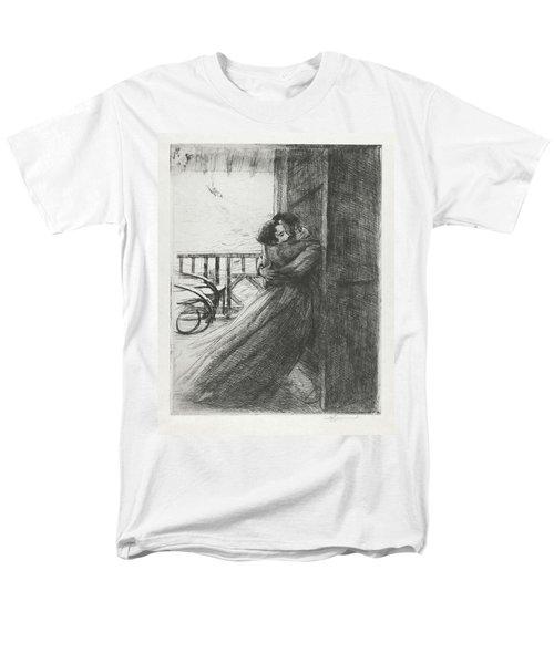 Men's T-Shirt  (Regular Fit) featuring the drawing Love - La Femme Series by Paul-Albert Besnard