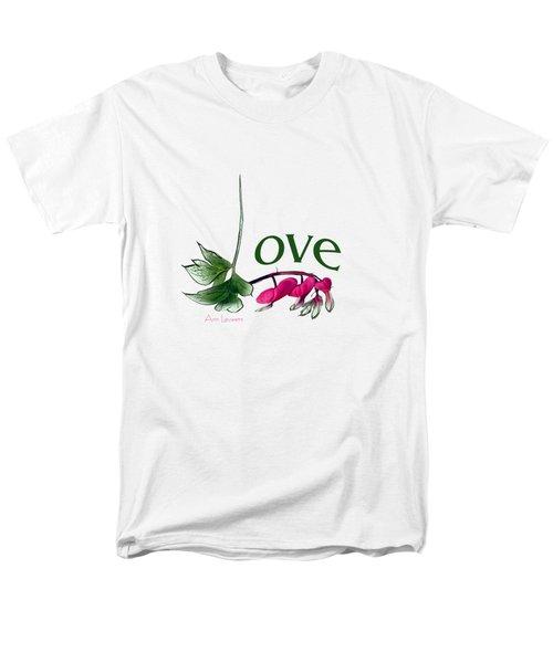 Men's T-Shirt  (Regular Fit) featuring the digital art Love Shirt by Ann Lauwers