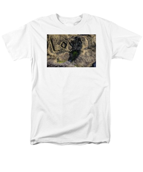 Men's T-Shirt  (Regular Fit) featuring the photograph Love Written In Stone by Randy Bayne