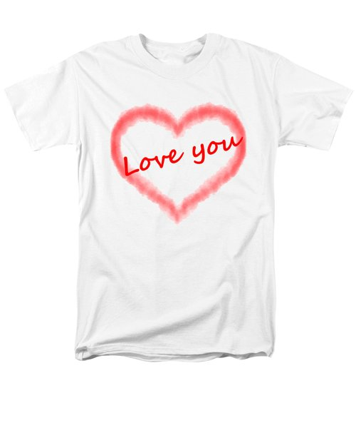 Love You Men's T-Shirt  (Regular Fit) by Roger Lighterness