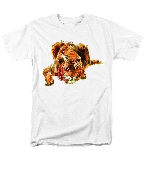 Lurking Tiger Men's T-Shirt  (Regular Fit) by Marian Voicu