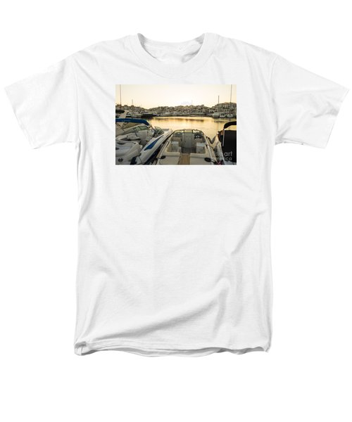 Luxury Yachts Puerto Banus Men's T-Shirt  (Regular Fit) by Perry Van Munster