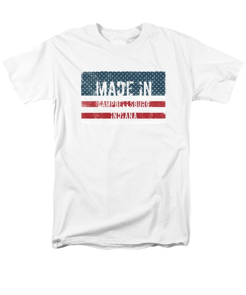 Made In Campbellsburg, Indiana Men's T-Shirt  (Regular Fit) by Tinto Designs