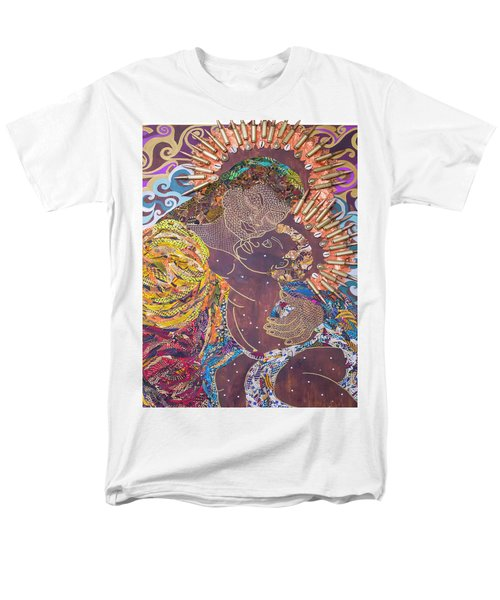 Madonna And Child The Sacred And Profane Men's T-Shirt  (Regular Fit) by Apanaki Temitayo M