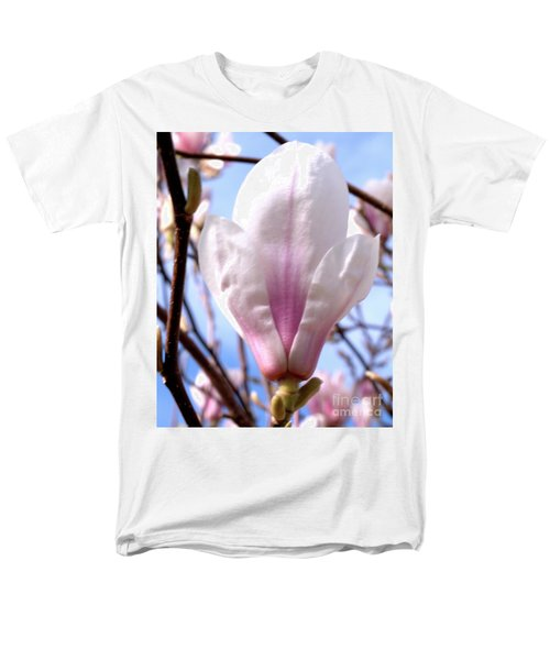 Men's T-Shirt  (Regular Fit) featuring the photograph Magnolia Flower Bloom by Stephen Melia