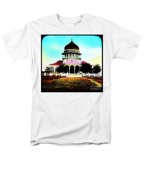 Men's T-Shirt  (Regular Fit) featuring the photograph Malay Mosque Singapore Circa 1910 by Peter Gumaer Ogden