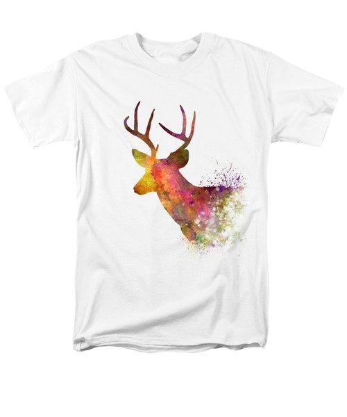 Male Deer 02 In Watercolor Men's T-Shirt  (Regular Fit) by Pablo Romero