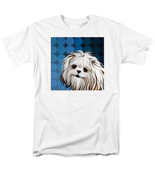 Men's T-Shirt  (Regular Fit) featuring the painting Maltese Magic by Leanne WILKES