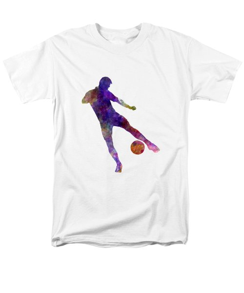 Man Soccer Football Player 02 Men's T-Shirt  (Regular Fit) by Pablo Romero