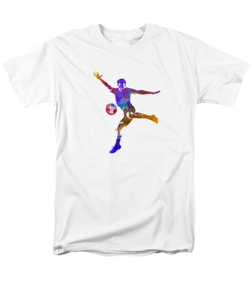Man Soccer Football Player 14 Men's T-Shirt  (Regular Fit) by Pablo Romero