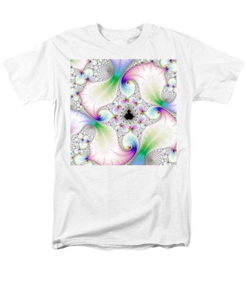 Mandebrot In Pastel Fractal Wonderland Men's T-Shirt  (Regular Fit)