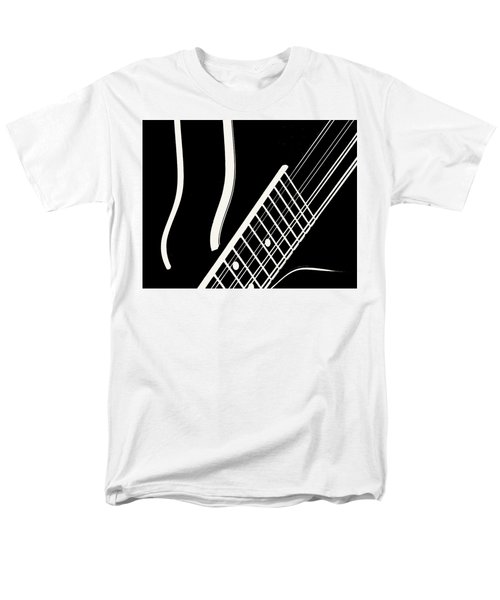 Men's T-Shirt  (Regular Fit) featuring the digital art Mandolin Close Bw by Jana Russon
