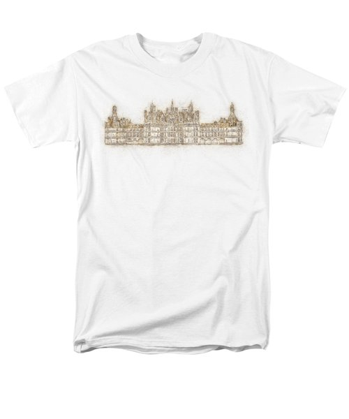 Map Of The Castle Chambord Men's T-Shirt  (Regular Fit) by Anton Kalinichev