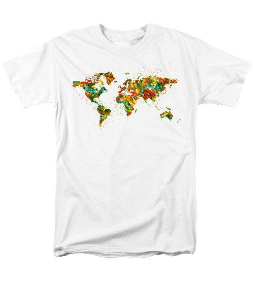 Map Of The World Watercolor Men's T-Shirt  (Regular Fit) by Marian Voicu