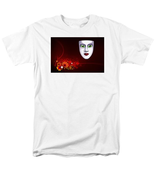 Mardi Gras Mask Red Vines Men's T-Shirt  (Regular Fit) by Gary Crockett