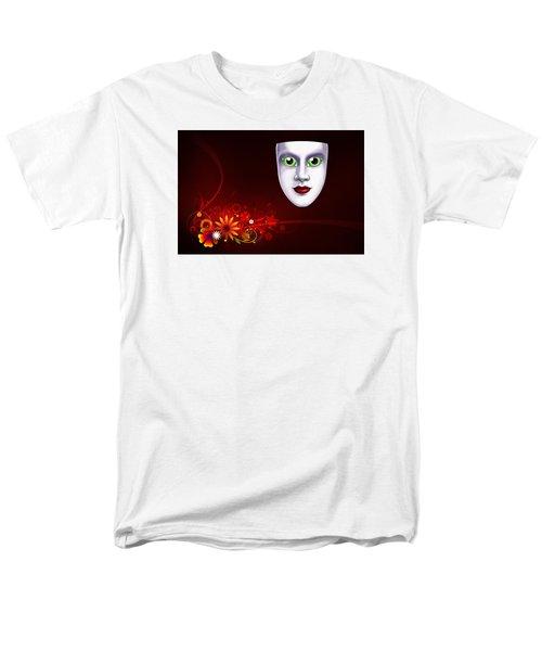 Mardi Gras Mask Red Vines Men's T-Shirt  (Regular Fit)
