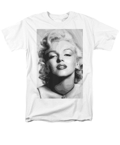 Marilyn Monroe - Bw Verticals  Men's T-Shirt  (Regular Fit) by Samuel Majcen